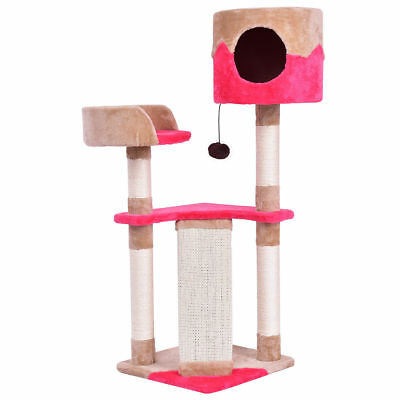 Cat Kitten Play Nest House Tower Condo Tree Bed Scratch Post Perch Ramp Toy Ball