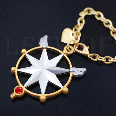 Anime Cardcaptor Sakura KINOMOTO SAKURA CLEAR CARD Key Chain Bag Pendant