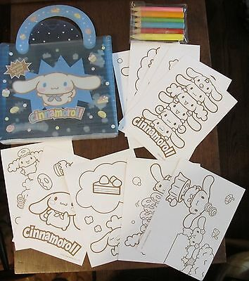 rare Cinnamoroll coloring set in case 2006