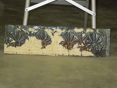 "Old Antique ( Metal )  tin ceiling tile 24"" x 6,5"