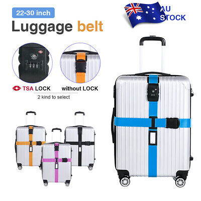 Adjustable Suitcase Luggage Strap Baggage Cross Belt Password Secure Coded Lock