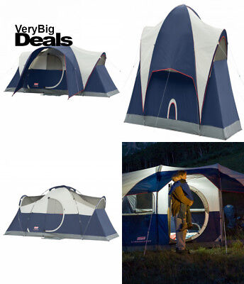 Coleman Elite Montana 8 Person Dome Tent With Led Light Gray 16