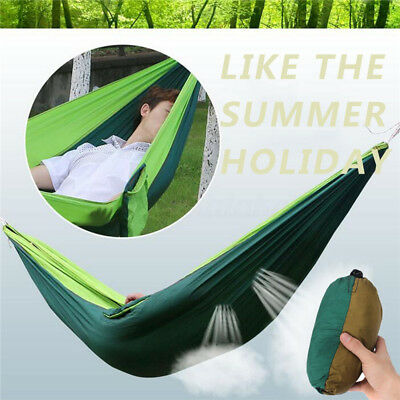 AU Double Person Travel Outdoor Camping Tent Hanging Hammock Bed & Mosquito Net