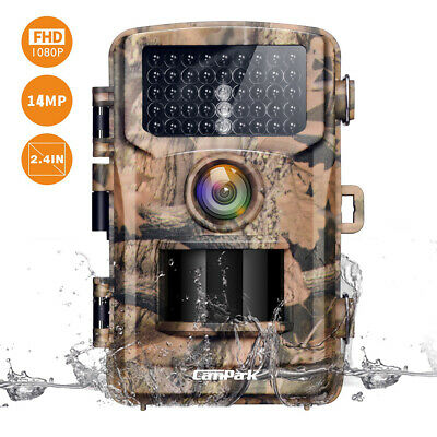 Fotocamera da Caccia 12MP 1080P FHD Trail Game Camera w/42pcs IR Infrarossi LEDs