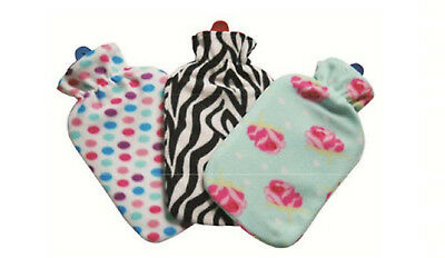2 Litre Large Hot Water Bottles Removable Fleece Cover Soft Warm Winter Home