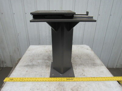 "24-1/2"" Tall Metal Buffer Steel Stand 12-1/2"" X 10"" Top Plate W/6"" Travel"