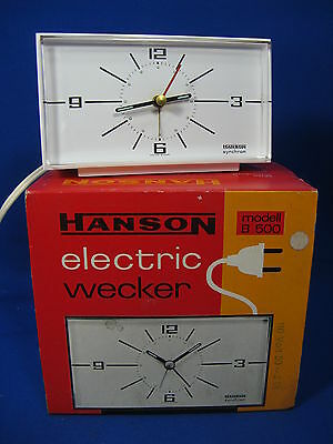 RARE VINTAGE NOS COLLECTORS ITEM HANSON electric wecker / alarm clock B 500 110V