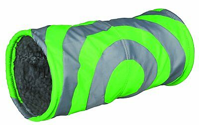Trixie 6284 Cuddly Tunnel for Guinea Pig with Extended Cage Tunnel Grey / Green