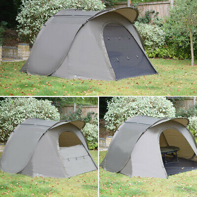 Quest Stealth Bivvy Carp Fishing Pop Up 1 2 Man Overnight Shelter Tackle Brolly