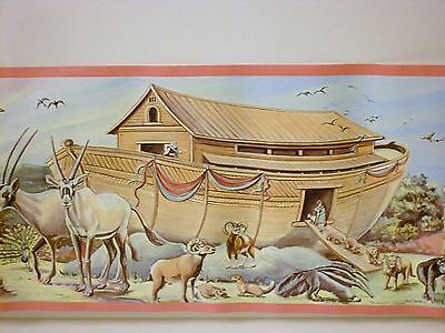 NEW 5 Rolls NOAH'S ARK Animals WALLPAPER BORDER by IMPERIAL Total 25 yds