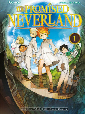 manga - THE PROMISED NEVERLAND N. 1 + POSTER + NOTEBOOK - nuovo - j-pop ITALIANO