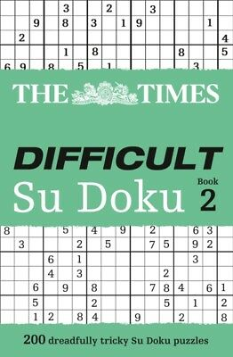 The Times Difficult Su Doku Book 2: Bk. 2 (Paperback), The Times ...
