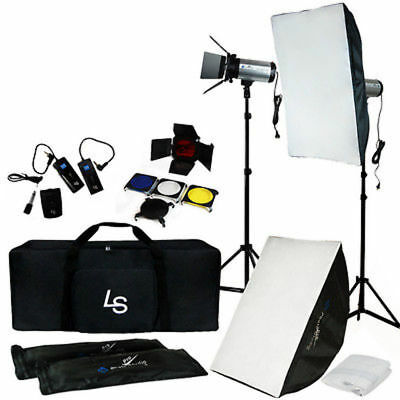 Photography Studio Kit Complete With Photo Lighting Strobes Stand Case Flash Set