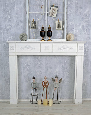 Fireplace Shabby Chic Console Decorative Paneling White