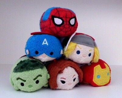 Disney Store - Marvel Universe Mini Tsum Tsum Toys - Set Of 6 - All With Tags