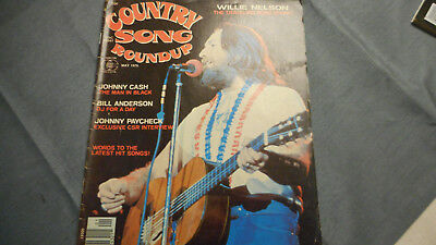Willie Nelson Covers Country Song Roundup Magazine May 1976 Johnny Cash