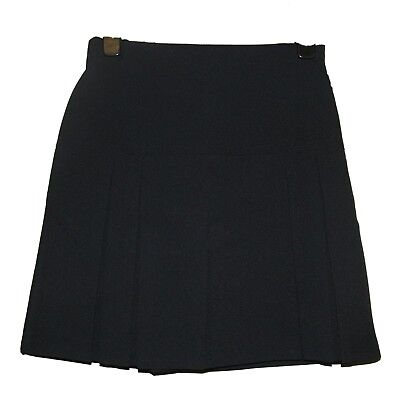 Fab New Girls Ex Store Navy Invert Pleat Adjustable Wst School Skirt Age 4-11 D