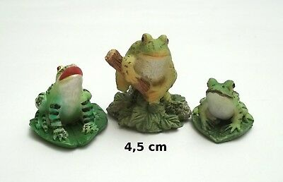 lot de 3 figurines grenouille ,animal collection,frog  Gtp14-11