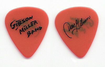Gibson Miller Band Dave Gibson Signature Red Guitar Pick - 1993 Tour