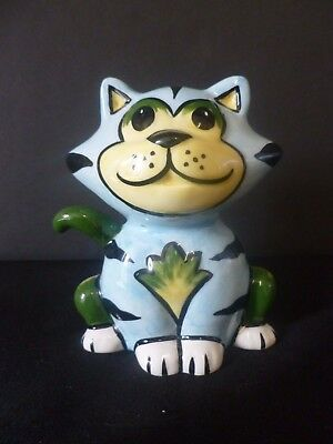 "LORNA BAILEY COLLECTORS HAND PAINTED SIGNED CAT benny"" BRAND NEW UNUSED"