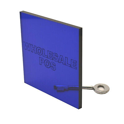 Dark Blue Tinted Acrylic Perspex 7703 Sheet Plastic Material A5 A4 A3 3mm & 5mm