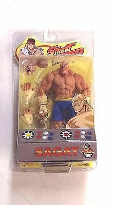 Street Fighter SAGAT Action Figure SOTA toys Series 1 SEALED / Blue Trunks RARE!