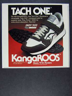 1984 KangaROOS roos TACH ONE running shoes photo vintage print Ad