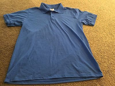 Men's L Large Port and Company blue Cannery Casino Hotel Las Vegas polo shirt