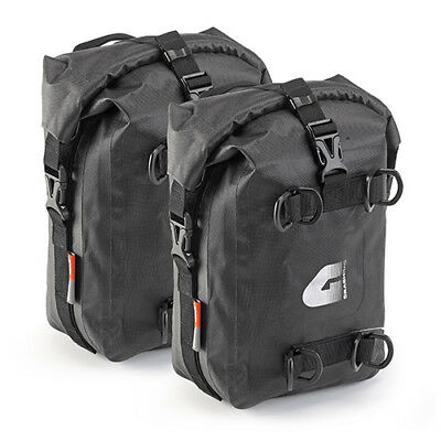 A Pair of Universal Givi T513 Engine Crash Bar Waterproof Saddle Bags 5L Each