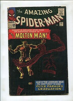 The Amazing Spider-Man #28 (4.0) 1St Appearance Of Molten Man! Key Issue Movie