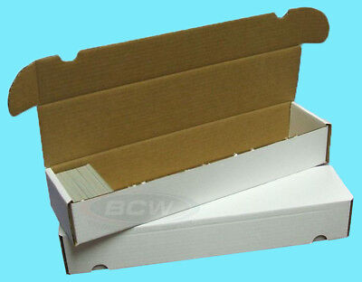 2 BCW 930 COUNT CARDBOARD CARD STORAGE BOXES Trading Sports Case Baseball Holder