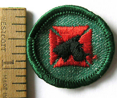 Rare 1955-60 Girl Scout FIRST AID TO ANIMALS BADGE Scotty Dog Veterinarian Patch