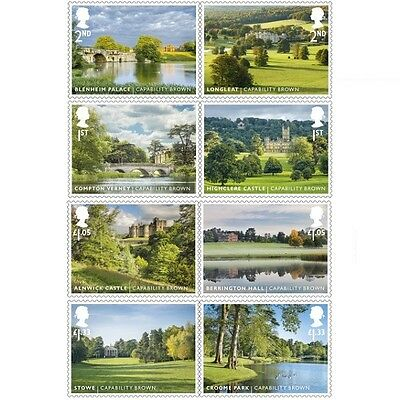 UK Landscape Gardens Stamp Set MNH 2016
