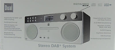 dual dab 555 Hi-Fi System Digital Radio Bluetooth CD Player USB DAB + Aux Silver