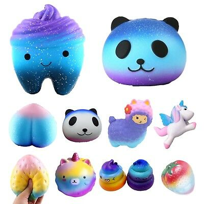 Jumbo Galaxy Panda Squishy Scented Slow Rising Squishies Kids Hand Pillow Toy AU