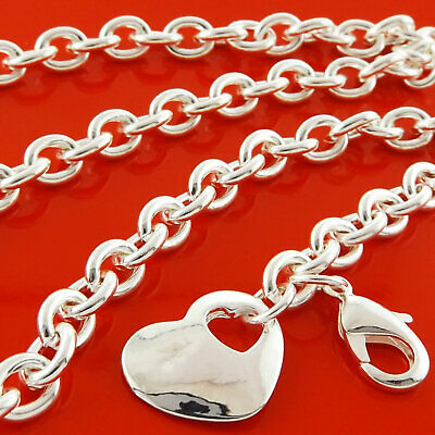 Necklace Chain Pendant Genuine Real 925 Sterling Silver Sf Antique Locket Design