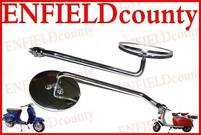 """Brand New Vespa Scooter Rear View Mirror Ovrm Mirror Set 4"""" Inches Face @aus"""