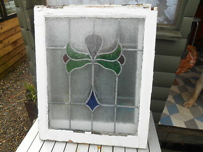 Art Nouveau Stained Glass Leaded Open Window For Interior Design or Restoration
