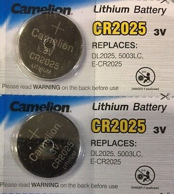 2 x PILA BOTON CAMELION CR2025 BATERIA LITIO LITHIUM 3V BATTERY DL2025 5003LC