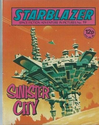 Sinister City,starblazer Space Fiction Adventure In Pictures,comic,no.19