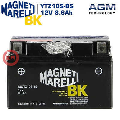 BATTERIA MAGNETI MARELLI YTZ10S-BS = YTZ10S KYMCO People S 200 IE DD ANNO 2009