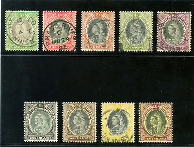 Southern Nigeria 1901 QV set complete very fine used. SG 1-9. Sc 1-9.