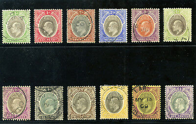 Southern Nigeria 1904 KEVII set complete very fine used. SG 21-32ab. Sc 21-31.