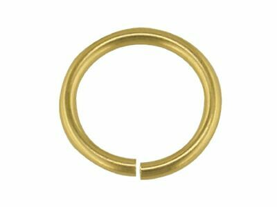 9ct Solid Yellow Gold Jump Rings Open 2.25mm to 9mm Light/Heavy Gauge Findings
