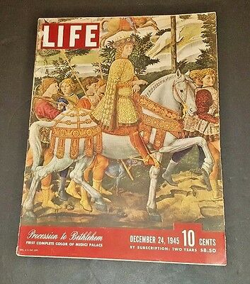December 24, 1945 LIFE Magazine WWII War 40s Advertising ad FREE SHIPPING Dec 12