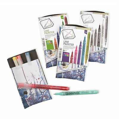 Derwent graphik line painter pen markers waterbased pigment 5 packs