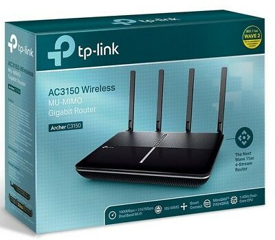 TP-Link Archer AC3150 Wireless Wi-Fi MU-MIMO Router Dual Band 4K Streaming Black