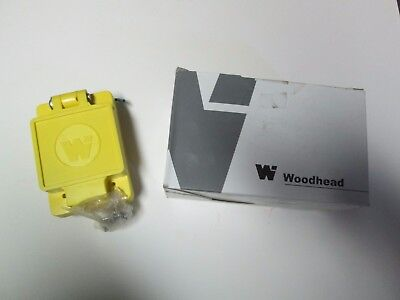 Unused DANIEL WOODHEAD 65W34 WATERTITE FLIP LID TURNEX #1301460147 Yellow