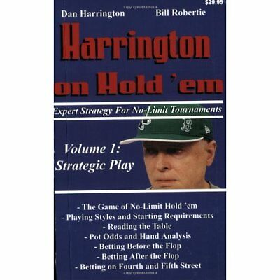 Harrington on Hold 'em: Expert Strategy for No Limit To - Paperback NEW Harringt