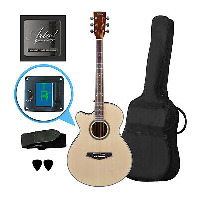 Artist LSPSNTL Beginner Left Handed Small Body Acoustic Guitar Pack - New